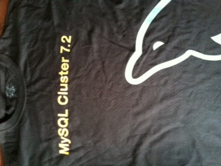 Someone will win this shirt at the North Texas MySQL User Group meeting on Monday March 12th