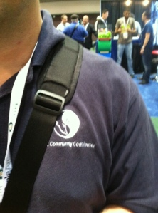 This is Antony Curtis in the original Community Contributor shirt