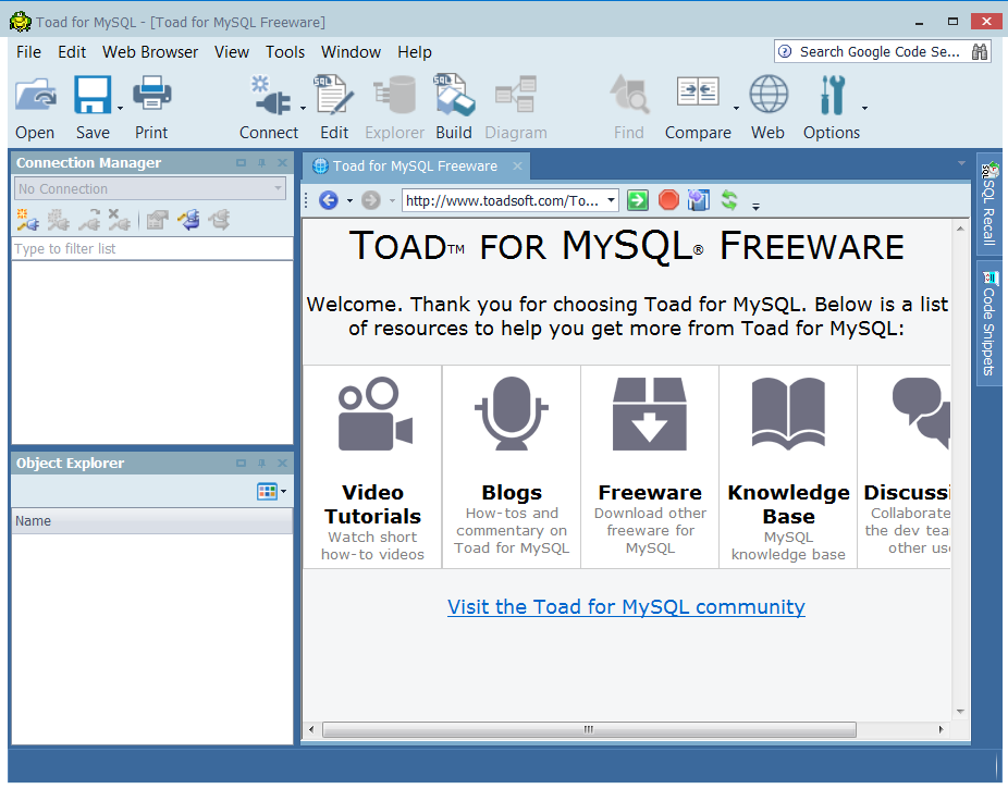 Toad for mysql open source dbas blog toad for mysql yup toad is now available for mysql ccuart Gallery