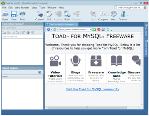 Toad For MySQL? Yup, Toad is now available for MySQL