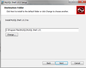 You can also determine where to keep your new mysql